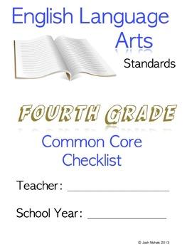 FILL AND SAVE Fourth Grade (4th Grade) ELA CCSS Common Cor