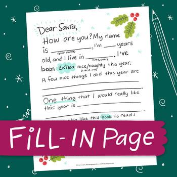 FILL-IN PAGE: Dear Santa II