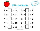 FILL IN THE BLANKS ADDITION B (10 Worksheets)