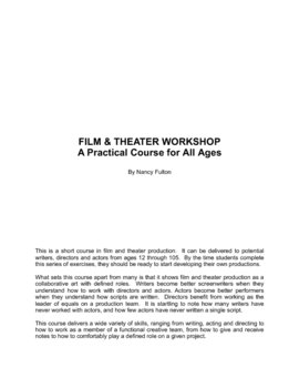 FILM & TV Production Workshop: A Hands-On Course for All Ages