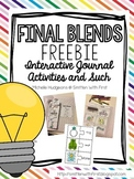 FINAL BLENDS FREEBIE! Interactive Journal Activites, Sorts, and Games