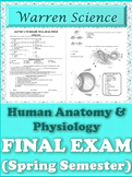 FINAL EXAM: Human Anatomy & Physiology (Spring-2nd-Semeste