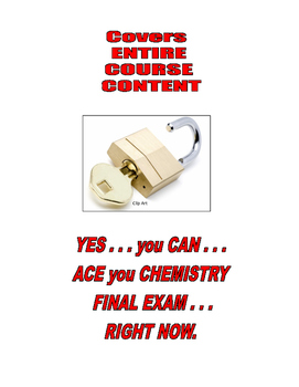 FINAL EXAM REVIEW for ENTIRE CHEMISTRY COURSE