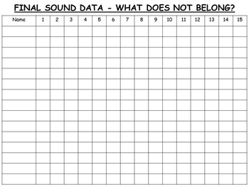 FINAL SOUND AWARENESS-WHAT DOES NOT BELONG?