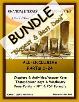 FINANCIAL LITERACY BIG BUNDLE (The Money Trail) - ALL Chapters, Tests & PPTS