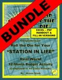 "FINANCIAL LITERACY:  ""Budgeting/Money Management"" -  SIMULATION ""BIG"" BUNDLE"