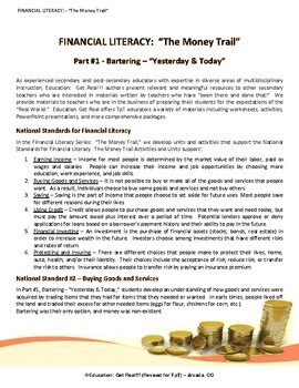 FINANCIAL LITERACY - The Money Trail - Part 1 - Bartering, Yesterday & Today