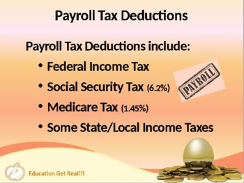 FINANCIAL LITERACY–The Money Trail – Part 12 – Payroll & Deductions POWERPOINT