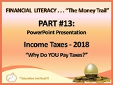 FINANCIAL LITERACY–The Money Trail – Part 13 – 2018 Income Taxes - POWERPOINT