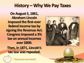 FINANCIAL LITERACY–The Money Trail Part 13 – 2017 Income Taxes  POWERPOINT