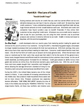 FINANCIAL LITERACY - The Money Trail - Part 14 3rd Ed 2016- The Lure of Credit