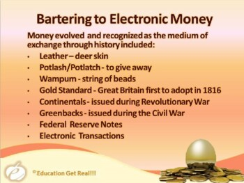 FINANCIAL LITERACY – The Money Trail – Part 2 The History of Money POWERPOINT