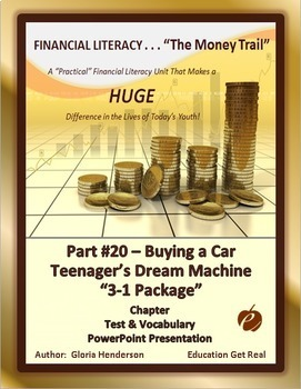 FINANCIAL LITERACY - The Money Trail Part 20 – Buying a Ca