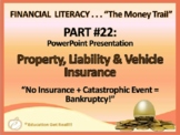 FINANCIAL LITERACY–The Money Trail– Part 22 Property, Liability, Vehicle Ins PPT