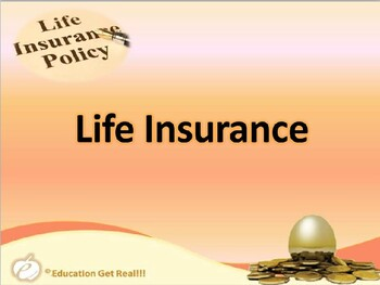 FINANCIAL LITERACY–The Money Trail Part 23 Life,Health&DisabilityIns. PowerPoint