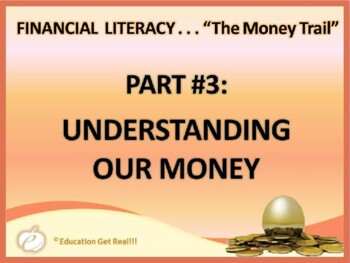 FINANCIAL LITERACY – The Money Trail – Part 3 Understanding Our Money POWERPOINT