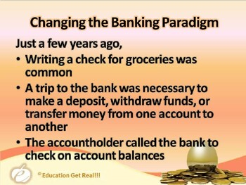 FINANCIAL LITERACY – The Money Trail – Part 4 – Evolution of Banking POWERPOINT