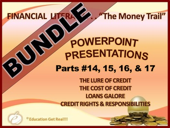FINANCIAL LITERACY – The Money Trail – PowerPoint BUNDLE P
