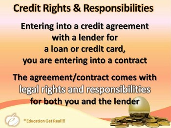 FINANCIAL LITERACY–TheMoneyTrail Part 17–Your Credit Rights&Responsibilities PPT