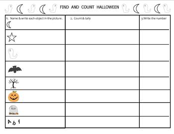 FIND AND COUNT HALLOWEEN ACTIVITY PRINTABLE