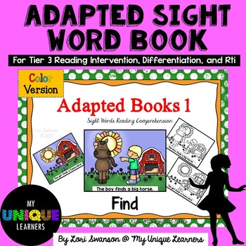Adapted Sight Word Book- FIND  (color)