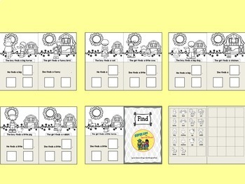 Adapted Sight Word Book: Find (combo)