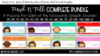 BUNDLE: FIND N' FILL- ARTICULATION WORD SEARCH COMPLETE SET
