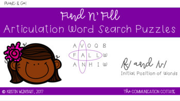 FIND N' FILL: /F/ and /V/ Initial Position Word Search Puzzles