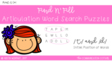 FIND N' FILL: /T/ and /D/ Initial Position Word Search Puzzles