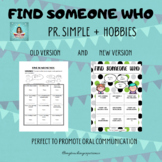 FIND SOMEONE WHO - HOBBIES