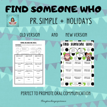 FIND SOMEONE WHO - HOLIDAY