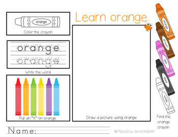 Let's Learn Colors and Color Words! Colors Are Everywhere!