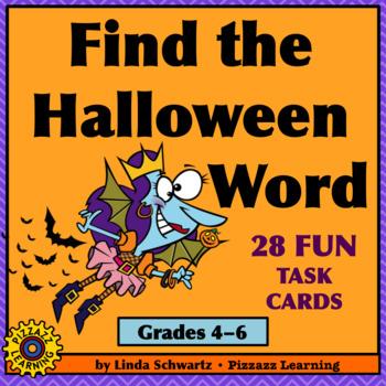 find the halloween word spooky words hidden in sentences