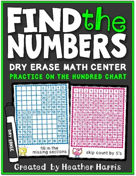 FIND THE NUMBER: hundred chart center