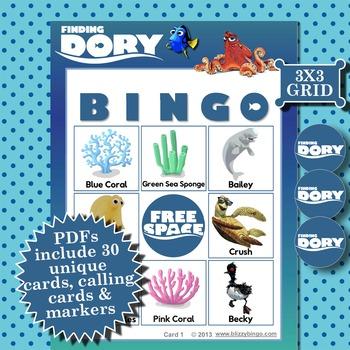 FINDING DORY 3x3 BINGO