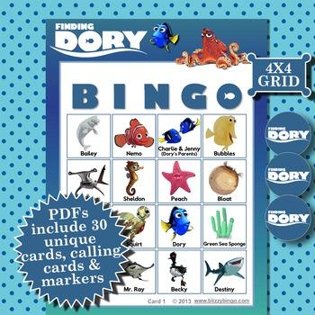 FINDING DORY 4x4 BINGO