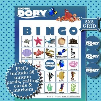 FINDING DORY 5x5 BINGO