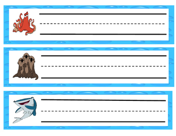 FINDING DORY AND NEMO NAME TAGS/DESK PLATES