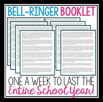 FIGURATIVE LANGUAGE BELL RINGERS & TASK CARDS