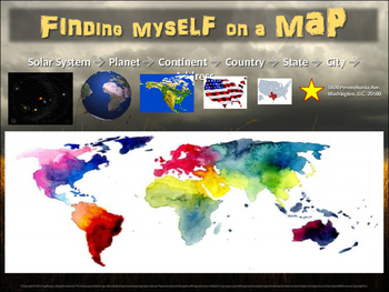 FINDING MYSELF ON A MAP: 30-slide follow-along resource for elementary