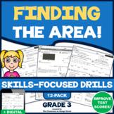 FINDING THE AREA UNIT! 12 Test Prep Practice Drills (Common Core | Grade 3)