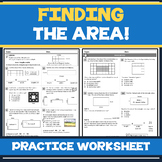 FREE! Finding the Area of Rectangles & Squares Guided Math
