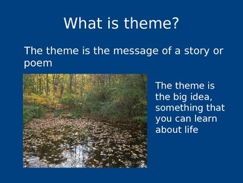 COMMON CORE-FINDING THE THEME