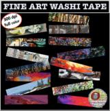 FINE ART WASHI TAPE CLIPART, CLASS DECOR, BULLETIN BOARDS,