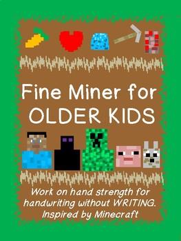 FINE MINER (fine motor) for OLDER KIDS based on MINECRAFT! Grades12345678