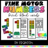 FINE MOTOR: BRICK BLOCKS SPANISH NUMBERS CARDS