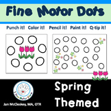 Spring Themed Special Education Fine Motor Dots for Center