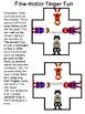 FINE MOTOR FINGER FUN: dexterity & clothespin matching prek123