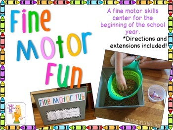 FINE MOTOR FUN - Colored Rice and Crayons Center