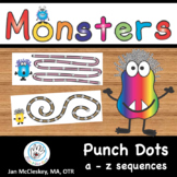 FINE MOTOR:  Monster Punch Dots for Centers or Therapy